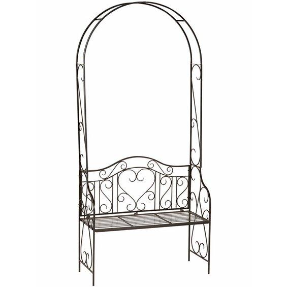 obi rosenbogen mit bank palmdale 228 cm anthrazit im obi online shop. Black Bedroom Furniture Sets. Home Design Ideas