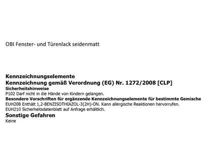 Obi Fenster Und Turenlack Weiss Seidenmatt 375 Ml Kaufen Bei Obi