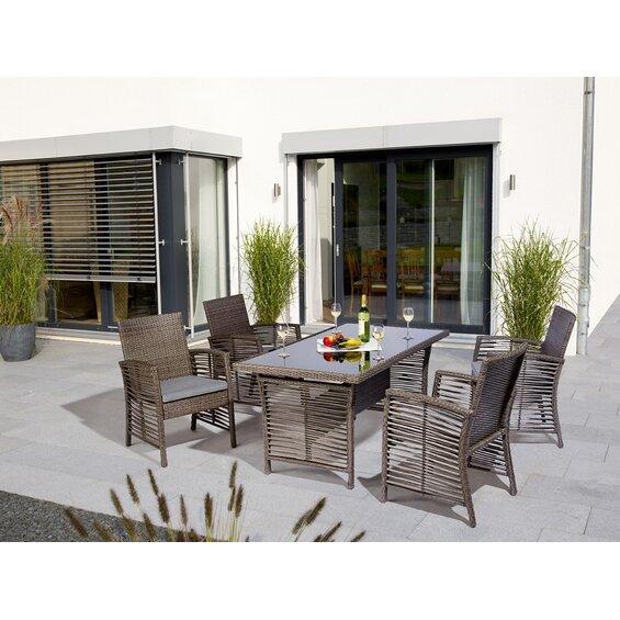 obi wicker dining set fallston 5 teilig baumarkt xxl. Black Bedroom Furniture Sets. Home Design Ideas