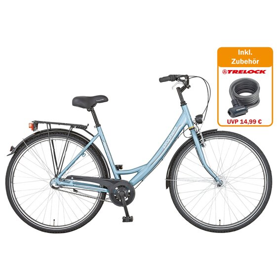 Prophete City-Fahrrad Alu 28 Genießer 2.4 mit gratis Trelock-Schloss