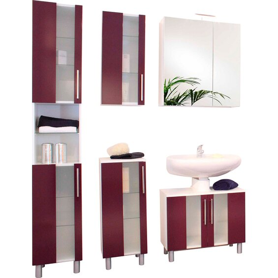 kesper badm bel set eek c trento wei brombeere 5 teilig baumarkt xxl. Black Bedroom Furniture Sets. Home Design Ideas