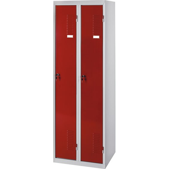doppel spind schrank rot baumarkt xxl. Black Bedroom Furniture Sets. Home Design Ideas