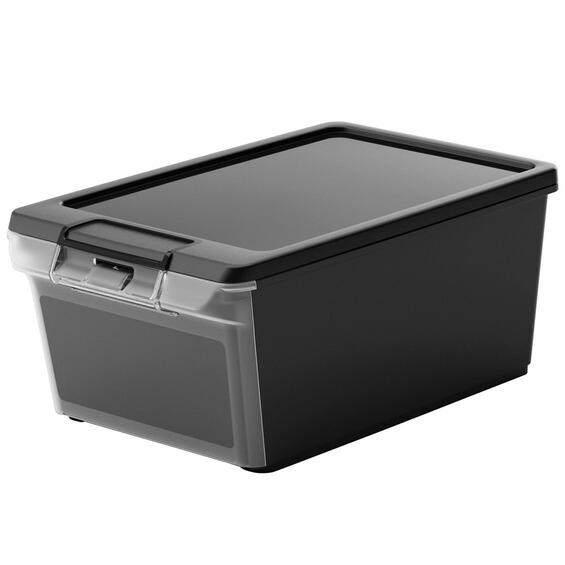 twinbox xs aufbewahrungsbox mit deckel und frontklappe schwarz 8 5 l im obi online shop. Black Bedroom Furniture Sets. Home Design Ideas
