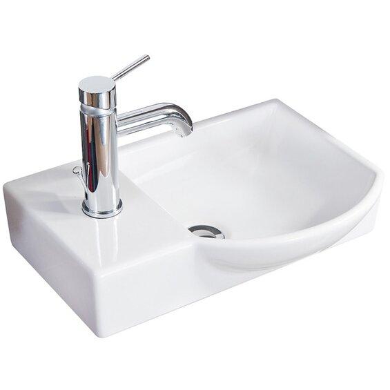 Fackelmann Mini Gäste-WC-Keramikbecken Vadea Weiß