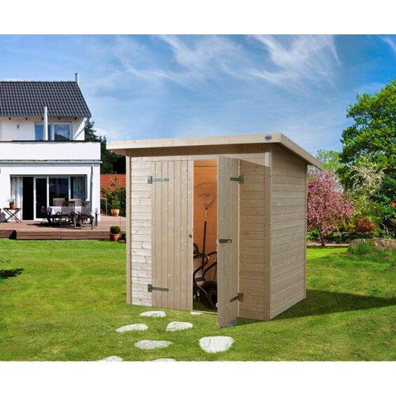 gartenhaus flachdach weka. Black Bedroom Furniture Sets. Home Design Ideas