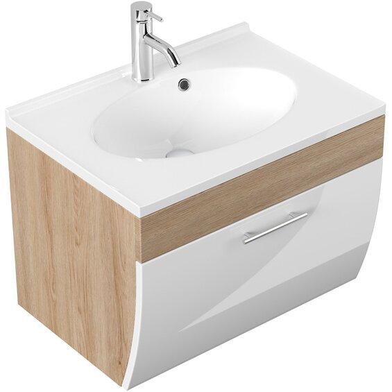 Posseik Waschplatz Salona 70 cm Sonoma-Weiß