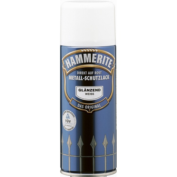 hammerite metall schutzlack spray wei gl nzend 400 ml im. Black Bedroom Furniture Sets. Home Design Ideas