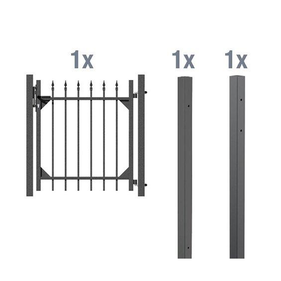 gah alberts metall einzeltor set chaussee anthrazit 120 cm x 96 5 cm baumarkt xxl. Black Bedroom Furniture Sets. Home Design Ideas