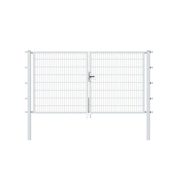 gah alberts doppeltor f r doppelstabmatte feuerverzinkt 140 cm x 300 cm baumarkt xxl. Black Bedroom Furniture Sets. Home Design Ideas