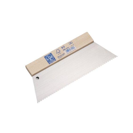 LUX Zahnspachtel B3-Zahnung Trapez 300 mm