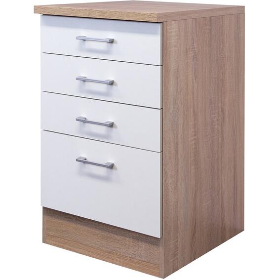 flex well classic schubkastenschrank samoa 50 cm wei sonoma eiche im obi online shop. Black Bedroom Furniture Sets. Home Design Ideas