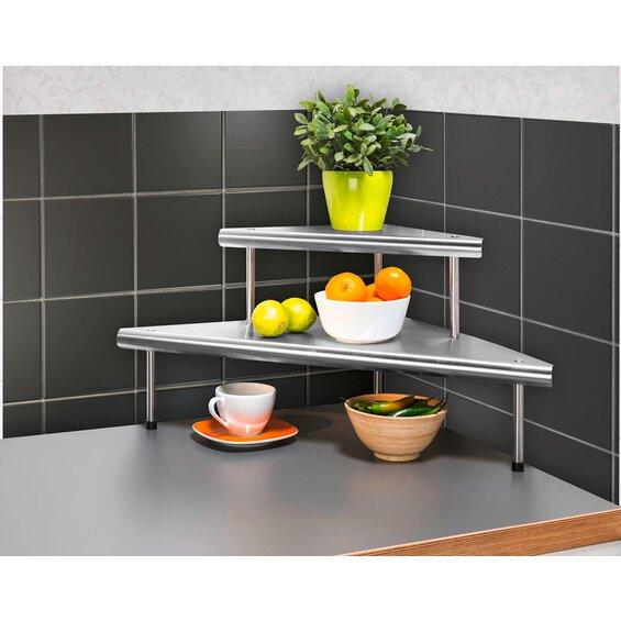 wenko k chen eckregal massivo duo mit 2 ablagen baumarkt xxl. Black Bedroom Furniture Sets. Home Design Ideas