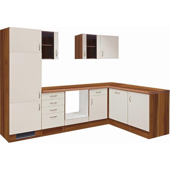 flex well exclusiv winkelk che sienna 280 cm ohne e ger te creme zwetschge baumarkt xxl. Black Bedroom Furniture Sets. Home Design Ideas