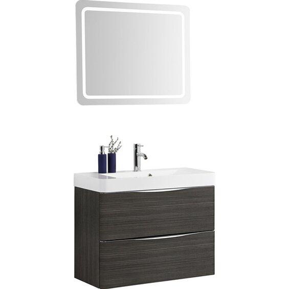 scanbad badm bel set 80 cm mit spiegelpaneel samba hacienda braun 3 teilig baumarkt xxl. Black Bedroom Furniture Sets. Home Design Ideas