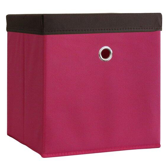 vcm stoffbox boxas pink mit deckel 2 st ck baumarkt xxl. Black Bedroom Furniture Sets. Home Design Ideas