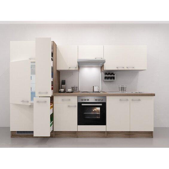 Küchenblock 300 Cm : flex well exclusiv k chenzeile eico 300 cm magnolienwei tennessee eiche baumarkt xxl ~ Watch28wear.com Haus und Dekorationen
