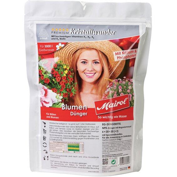 Mairol Blumen-Dünger Kristall 3 kg