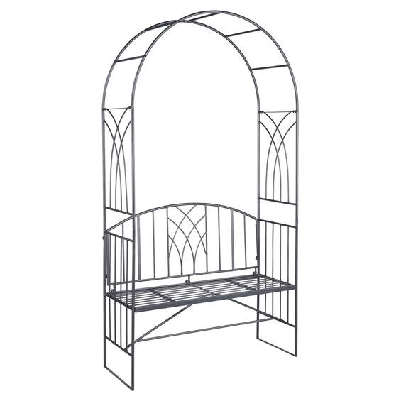 obi rosenbogen mit bank cardiff 220 cm x 120 cm x 47 cm anthrazit im obi online shop. Black Bedroom Furniture Sets. Home Design Ideas