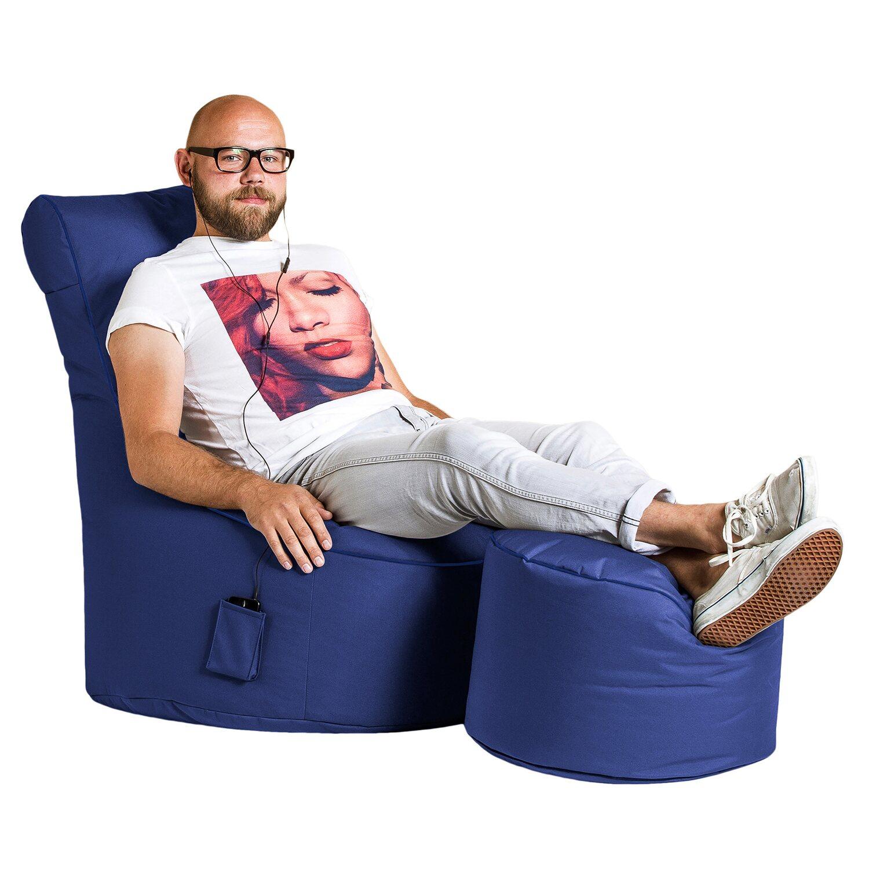 Sitting Point Sitzsack Swing Scuba 300 L Dunkelblau Kaufen Bei Obi