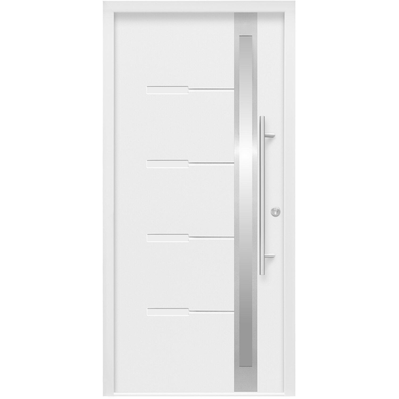 Splendoor Haustür ThermoSpace Neapel 110 cm x 210 cm Weiß Anschlag Rechts