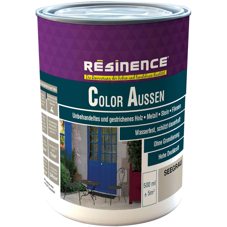 resinence color aussen seegrau seidenmatt 500 ml kaufen bei obi. Black Bedroom Furniture Sets. Home Design Ideas