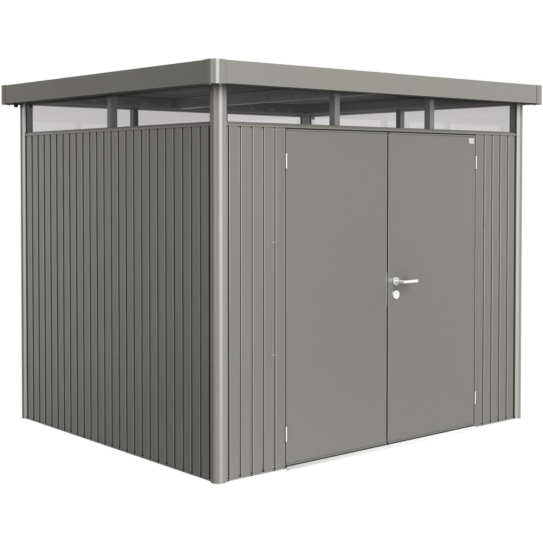 biohort ger tehaus highline mit doppelt r quarzgrau metallic gr h3 kaufen bei obi. Black Bedroom Furniture Sets. Home Design Ideas