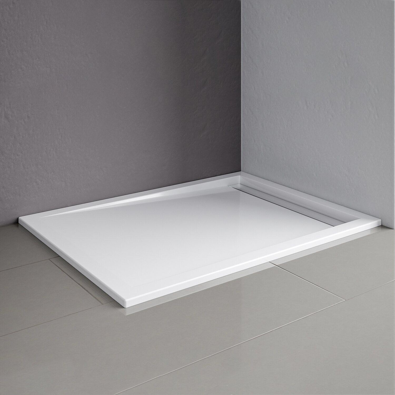 schulte duschwanne mit rinne extraflach rinnenabdeckung wei 80 x 120 cm kaufen bei obi. Black Bedroom Furniture Sets. Home Design Ideas