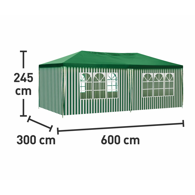 Großartig CMI PE Pavillon Weiß-Grün 300 cm x 600 cm kaufen bei OBI IX24