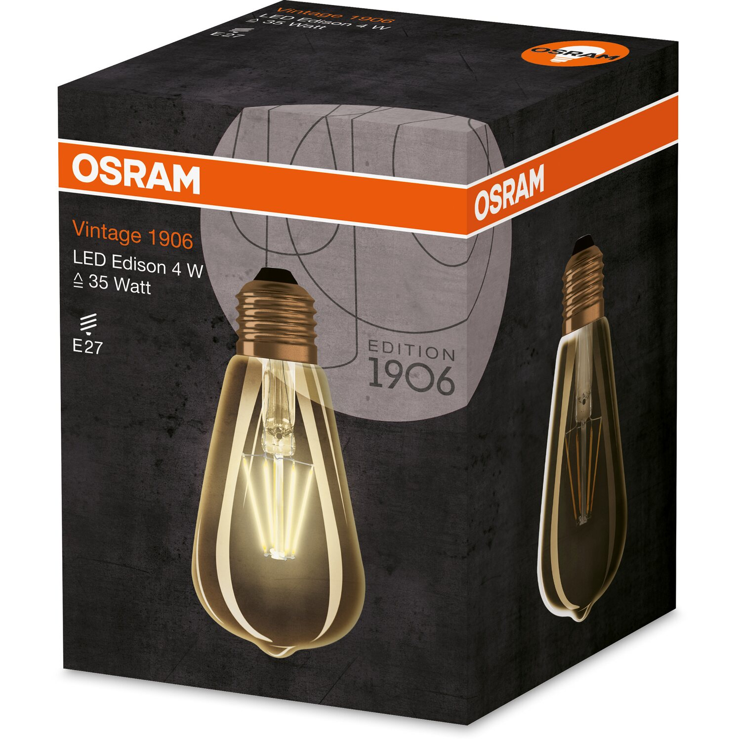 osram led filament leuchtmittel 1906 eek a e27 4 w 410 lm warmwei kaufen bei obi. Black Bedroom Furniture Sets. Home Design Ideas