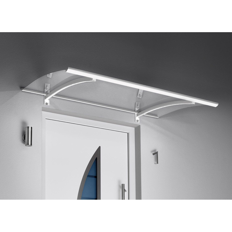 Gutta  Pultvordach mit LED-Technik, 150 x 90 cm, weiß