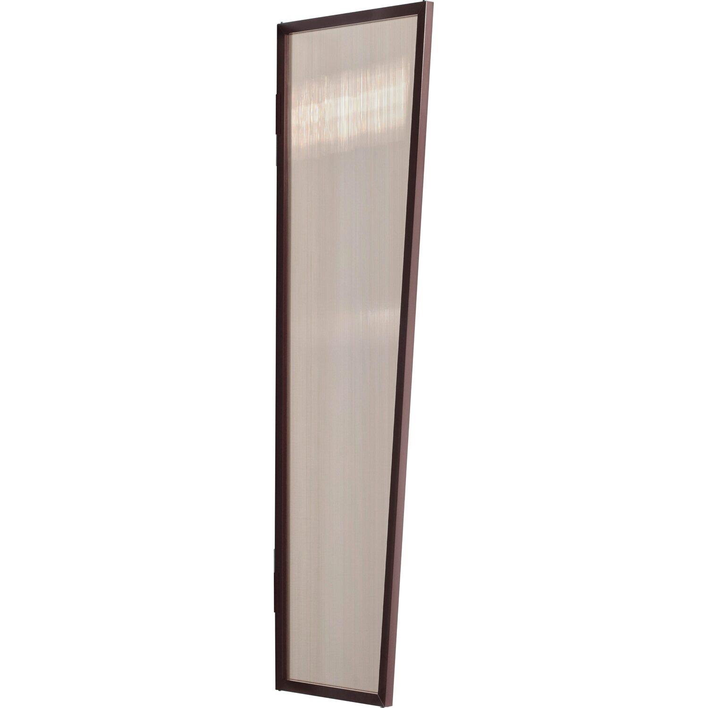 Gutta  Typ B1/PC Vordach-Seitenteil bronce, 200 x 60 cm, braun