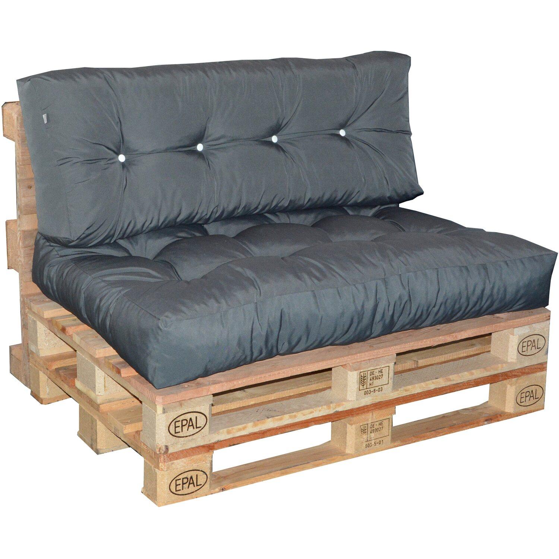 doppler paletten r ckenkissen ca 120 cm x 45 cm x 10 15 cm anthrazit kaufen bei obi. Black Bedroom Furniture Sets. Home Design Ideas
