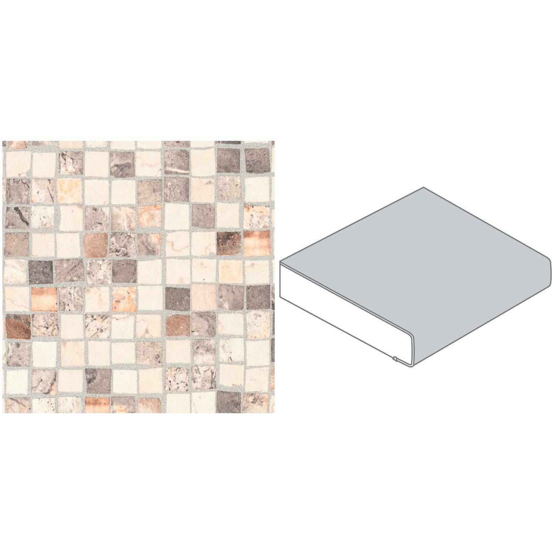 arbeitsplatte 60 cm x 3 9 cm mosaik braun beige s 234. Black Bedroom Furniture Sets. Home Design Ideas