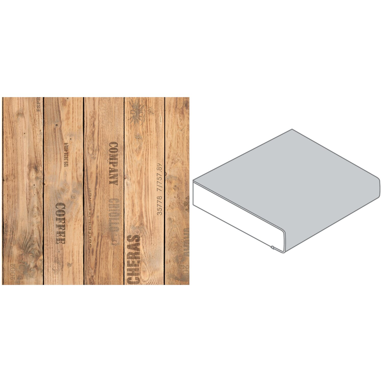 Arbeitsplatte 60 cm x 3,9 cm Holzkiste Holznachbildung (FI 420 ...