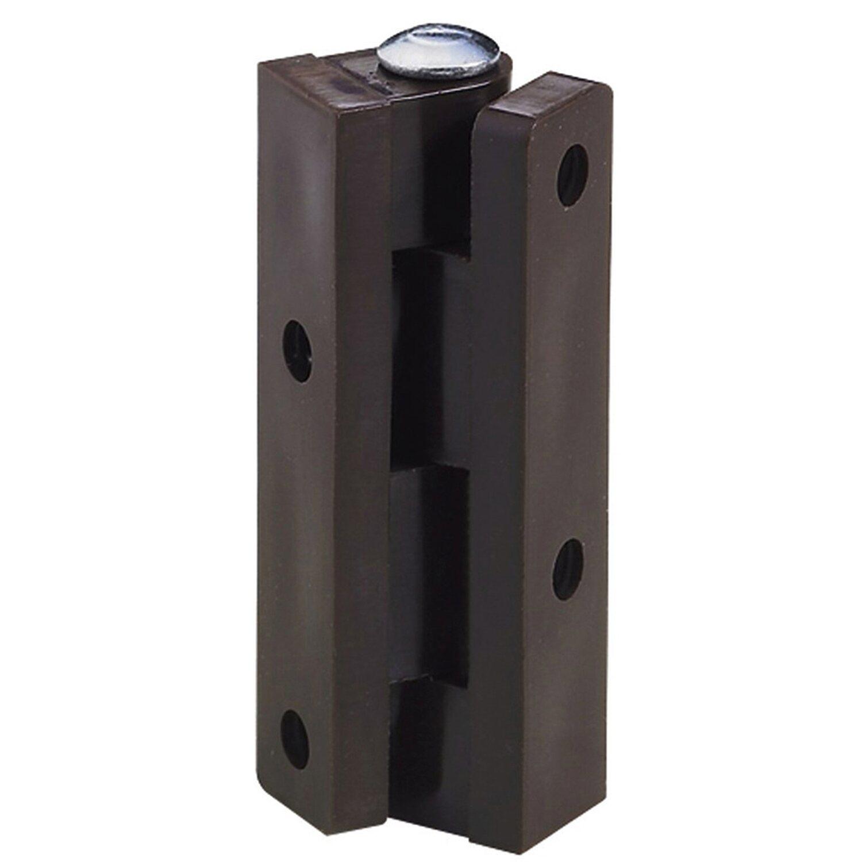 Hettich  Anschraubband Kunststoff 45 mm x 10 mm Braun 2 Stück