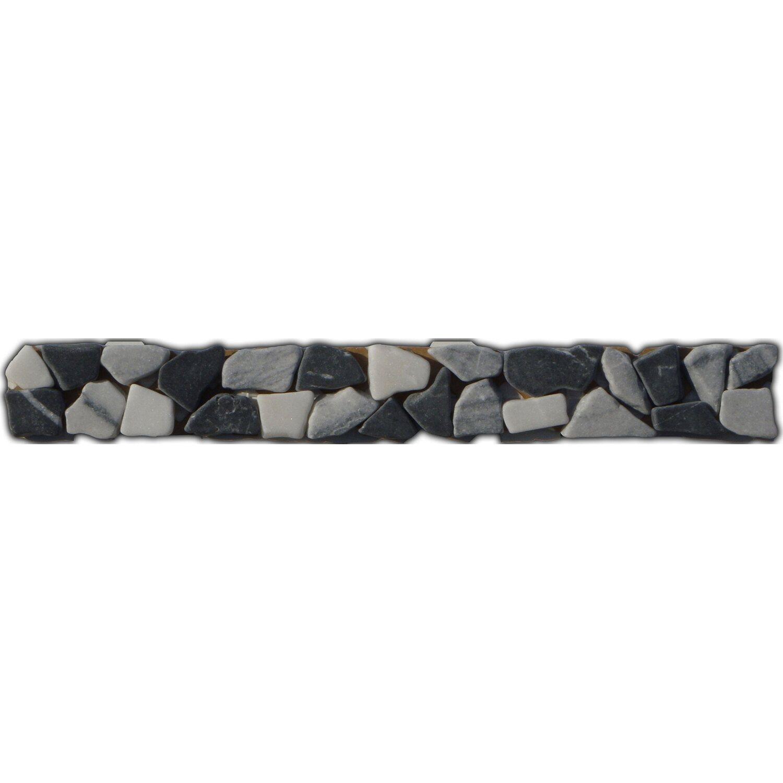 Sonstige Bordüre Fiumicino Schwarz Grau Weiß 3 cm x 25 cm