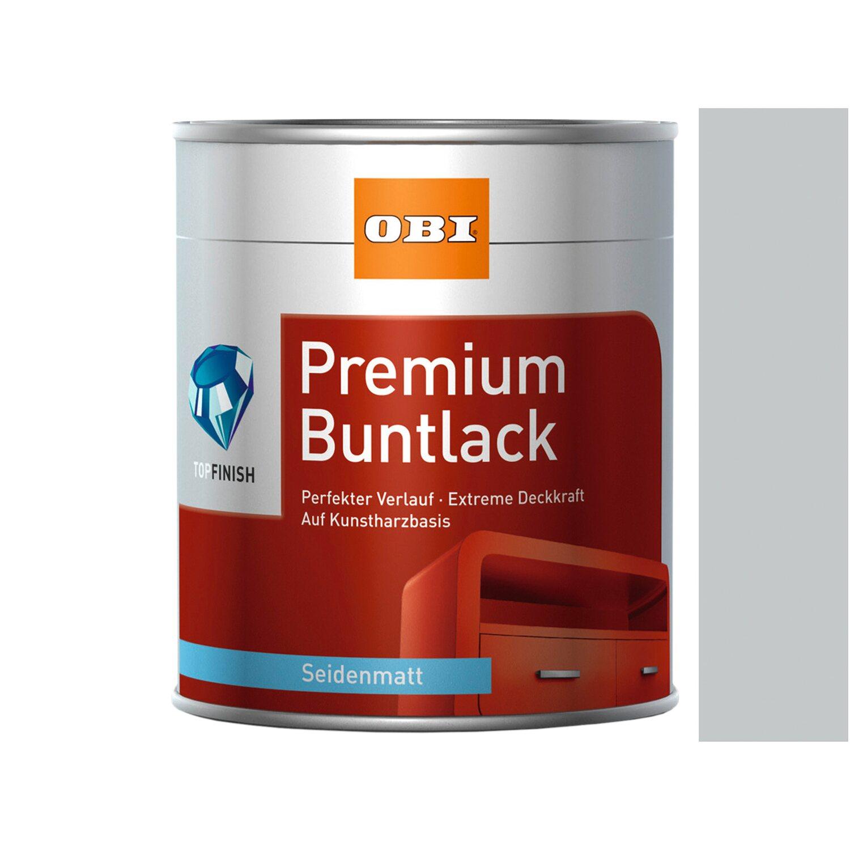 OBI  Premium Buntlack Lichtgrau seidenmatt 750 ml