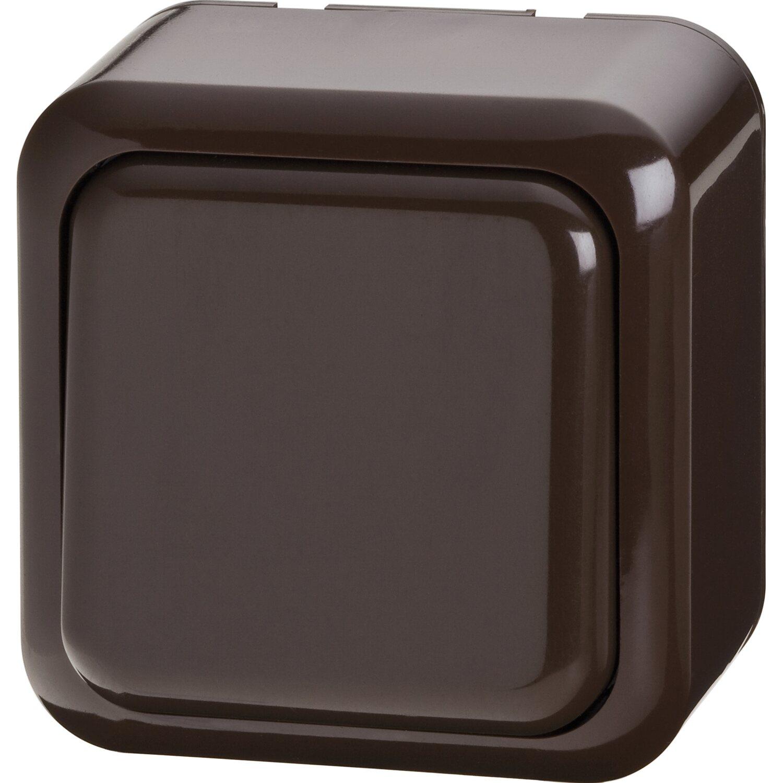 aus wechsel schalter aufputz braun kaufen bei obi. Black Bedroom Furniture Sets. Home Design Ideas