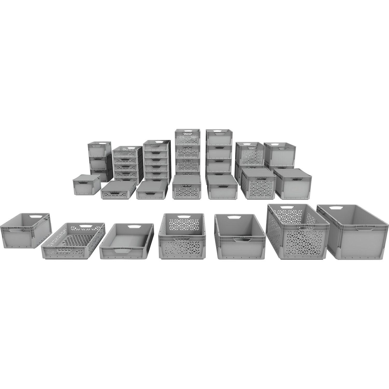 Obi eurobox system tauro grau 20 l vollwand kaufen bei obi for Graue dekoartikel