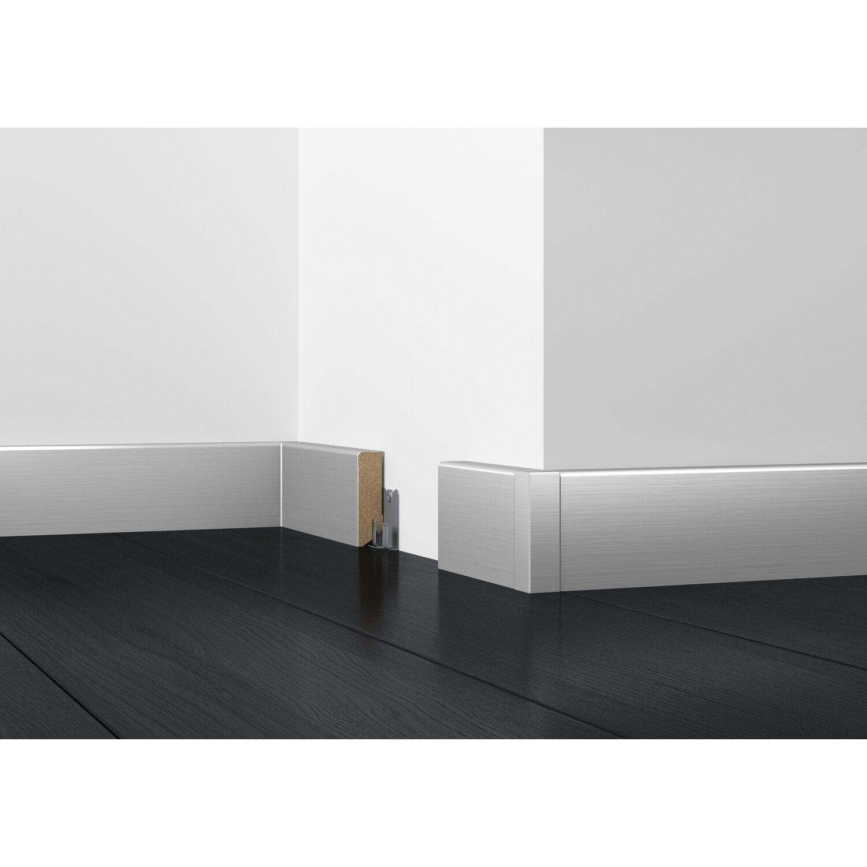 sockelleiste white&black cubica edelstahl 40 mm x 18 mm länge 2500