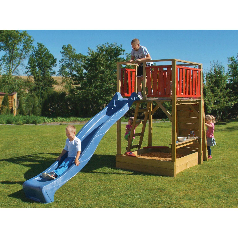 Spielturm Fun Kesseldruckimpragniert Grun 220 Cm X 160 Cm X 430 Cm