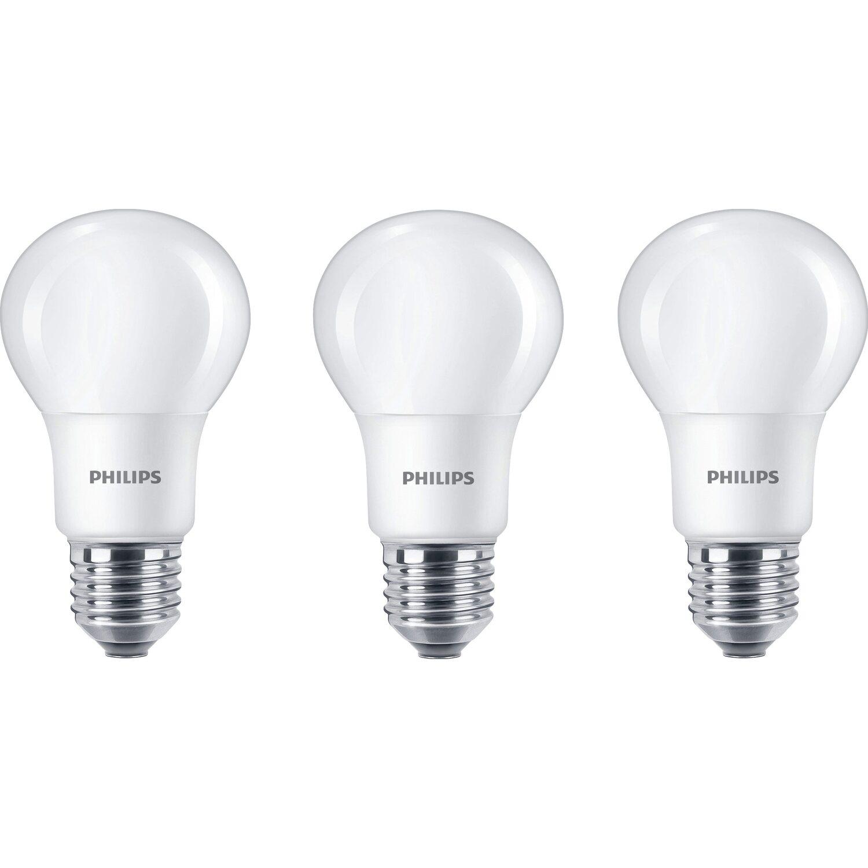 Philips led lampe glhlampenform e27 8 w 806 lm warmwei 3er philips led lampe glhlampenform e27 8 w 806 lm warmwei 3er parisarafo Choice Image