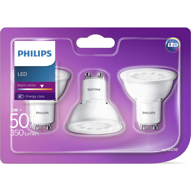 philips led leuchtmittel reflektor gu10 5 w 350 lm. Black Bedroom Furniture Sets. Home Design Ideas