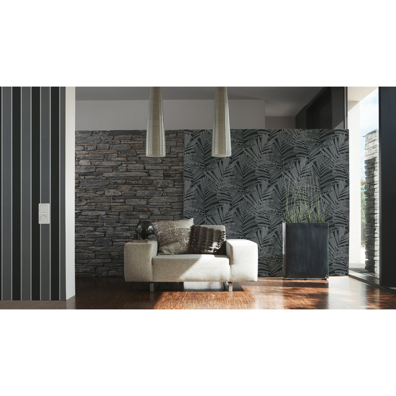 michalsky vliestapete metropolis streifen grau kaufen bei obi. Black Bedroom Furniture Sets. Home Design Ideas