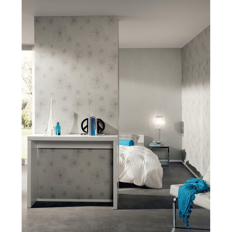 a s creation vliestapete blumen grau kaufen bei obi. Black Bedroom Furniture Sets. Home Design Ideas