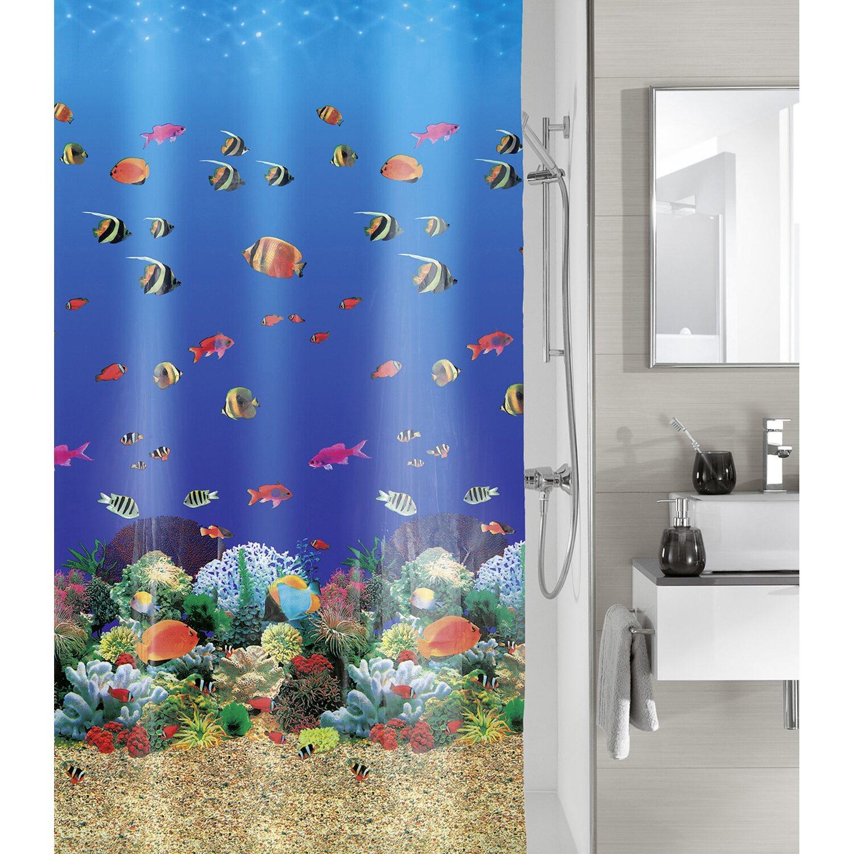 obi duschvorhang malediven multicolor 180 cm x 200 cm. Black Bedroom Furniture Sets. Home Design Ideas