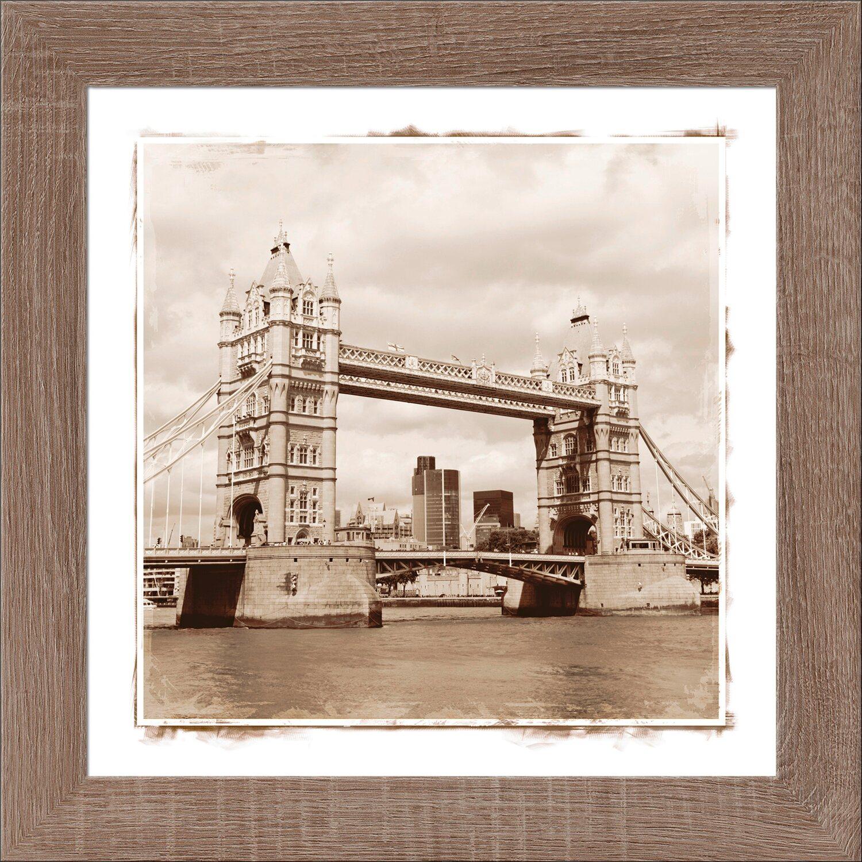 Bild mit Rahmen City Trip London 38 cm x 38 cm kaufen bei OBI