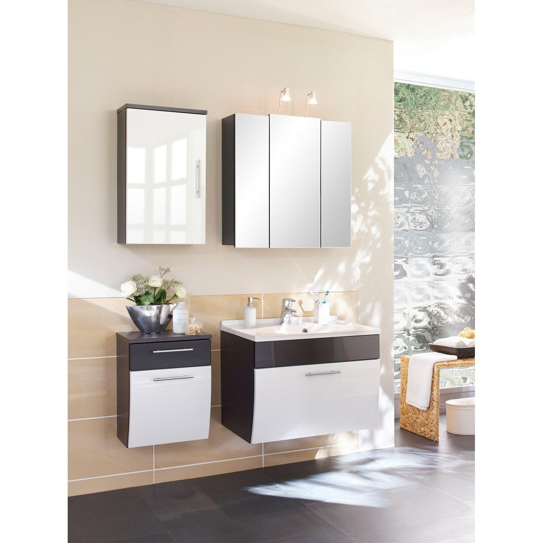 posseik badm bel set salona anthrazit wei 3 teilig eek c. Black Bedroom Furniture Sets. Home Design Ideas