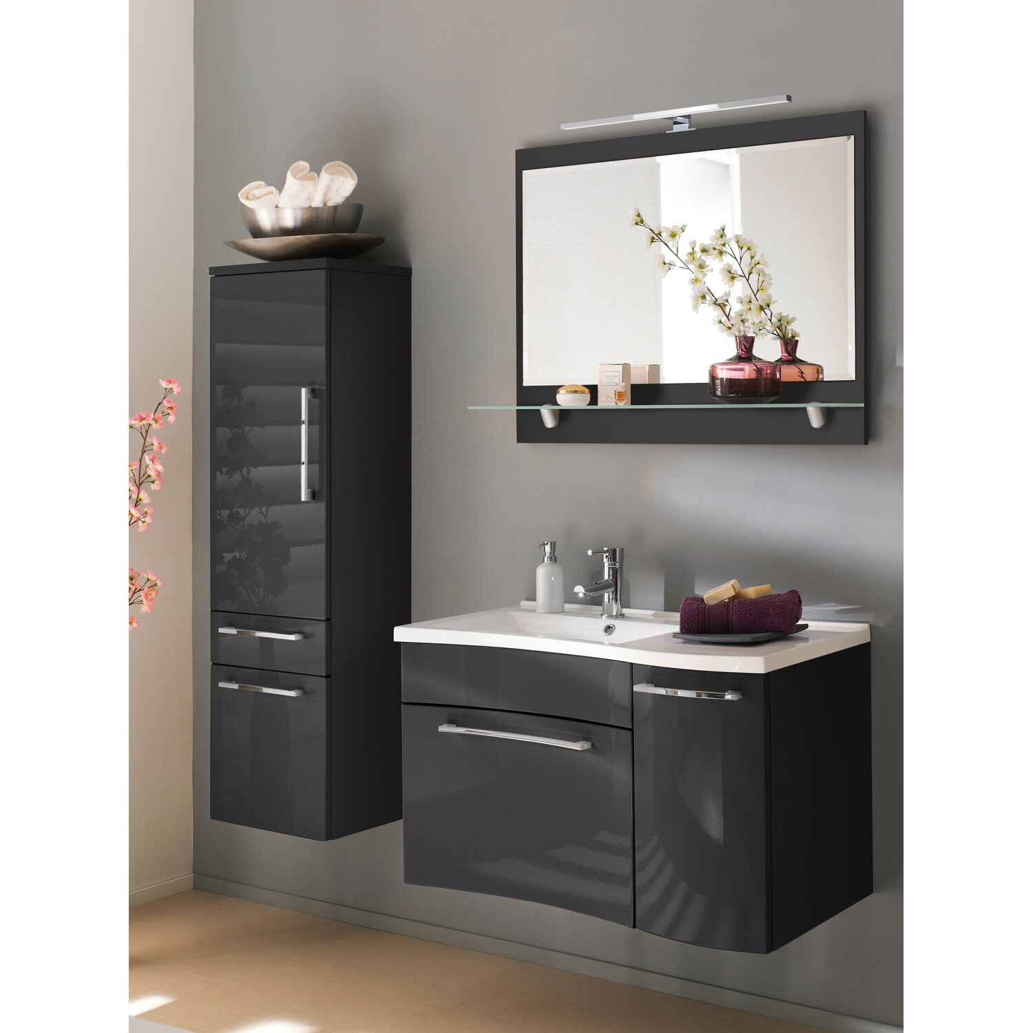posseik badm bel set laonda anthrazit 4 teilig eek a kaufen bei obi. Black Bedroom Furniture Sets. Home Design Ideas