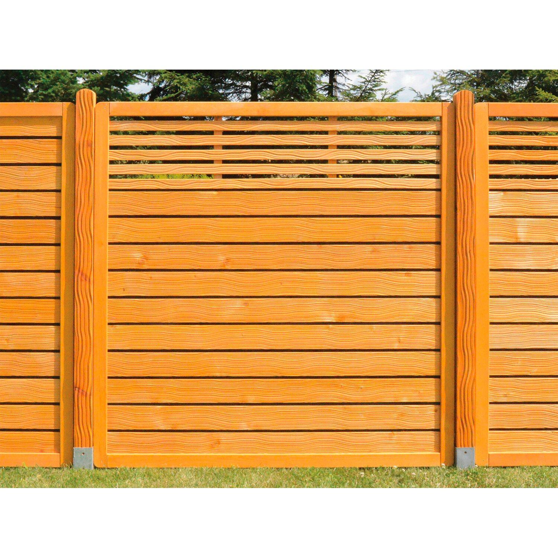 Sichtschutzzaun Element Verbena Honig Anthrazit 180 cm x 180 cm m